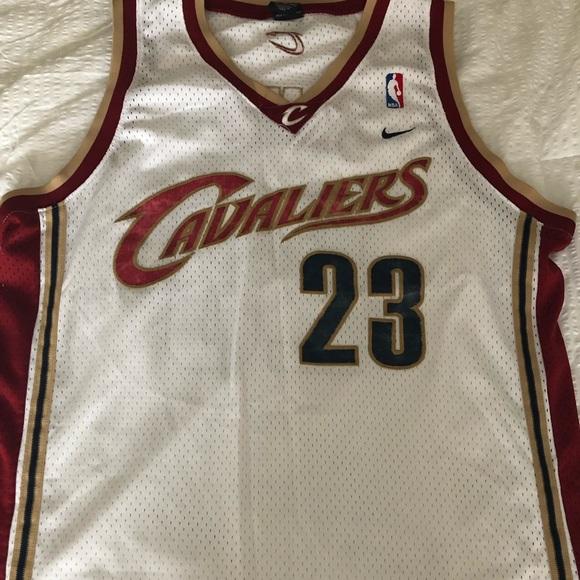 official photos 8d475 99a08 Lebron James White Nike Cavs Nike Jersey - XL+2